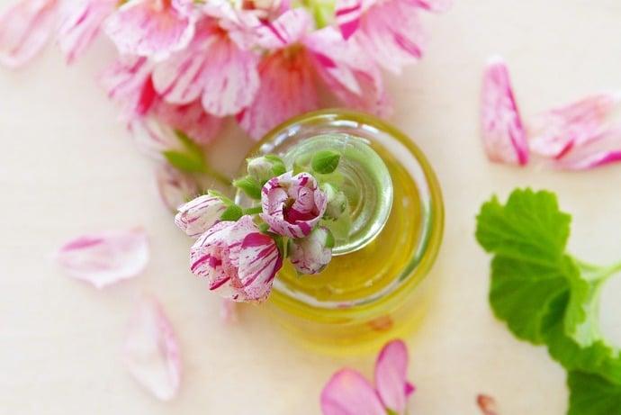 l'huile essentielle de geranium